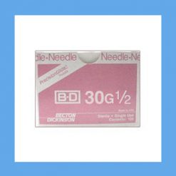 "BD Disposable Needles 30g x 1/2"" needles, disposable, stainless steel, BD"