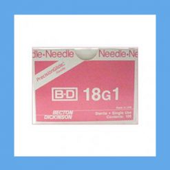 "BD Disposable Needles 18g x 1"" needles, disposable, stainless steel, BD"