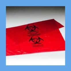 Biohazard Waste Bags, 8-10 GAL, 24X24, 1.25mil waste bags, infectious, biohazard, polyethylene