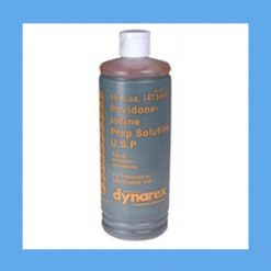 Dynarex Povidone Iodine Solution, 8 oz. bottle antiseptic, povidone, iodine, solution