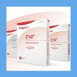 "#7203 Polymem Quadrafoam Dressing, 2"" x 2"" Dot dressing, cloth-backed, Polymem, Quadrafoam, healing"