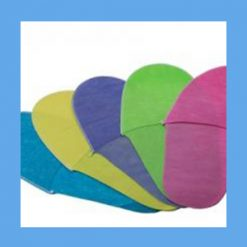 Non-woven Disposable Slippers Assorted Colors 100 pairs OVERSTOCK Minimizes the risk of cross contamination and eliminates laundering expenses
