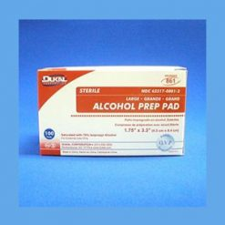 Alcohol Prep Pads, Large pads, alcohol, antiseptic, topical